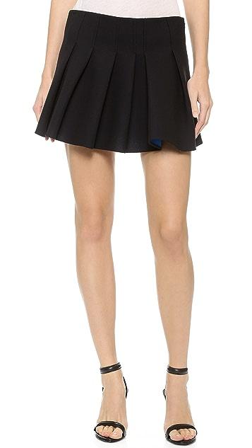 Alexander Wang Pleat Front Miniskirt