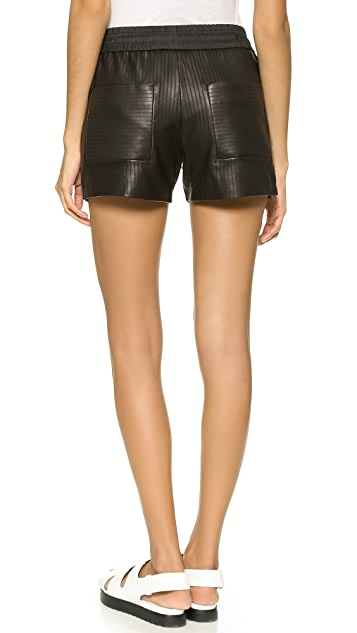 Alexander Wang Laser Cut Leather Shorts