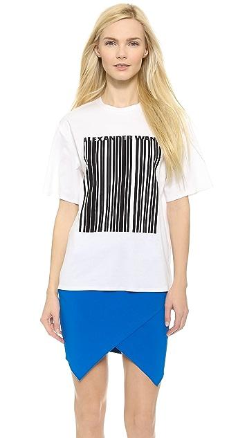 30e151e03499 Alexander Wang Welded Barcode T-Shirt | SHOPBOP