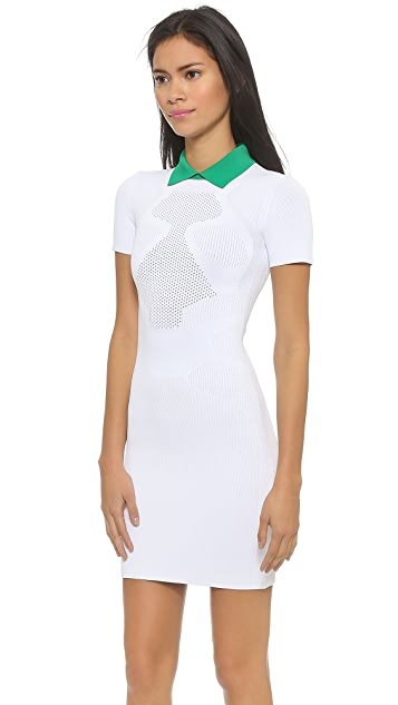 Alexander Wang Optical Mesh Polo Dress