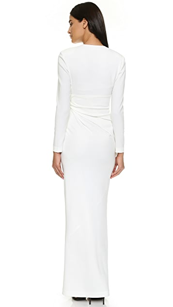 Alexander Wang Bias Cut Long Sleeve Gown