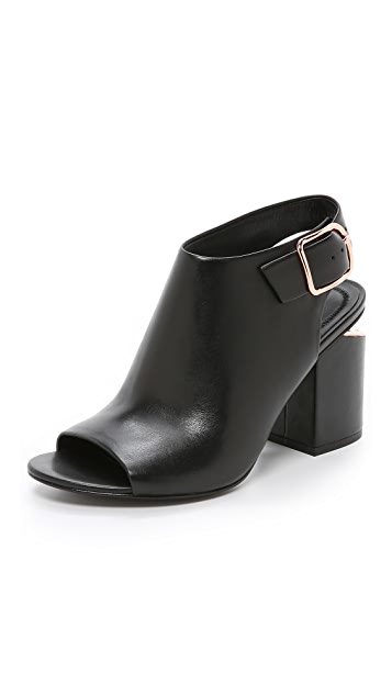 Alexander Wang Ankle Strap Peep-Toe Booties best store to get cheap price buy cheap for nice discount visa payment mNQYMg