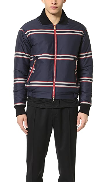 Baartmans and Siegel Striped Heavy Quilted Bomber