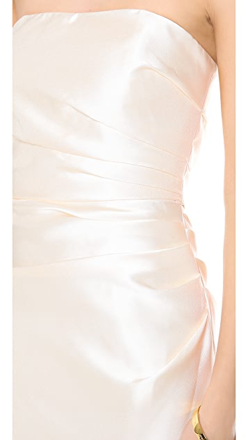 Badgley Mischka Collection Strapless Gown
