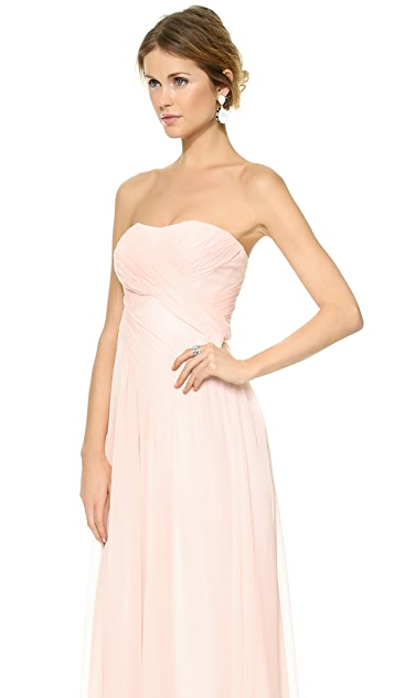 Badgley Mischka Collection Draped Crossover Dress