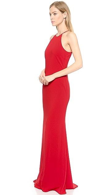 Badgley Mischka Collection Halter Odessa Gown
