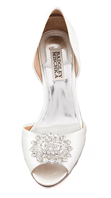 Badgley Mischka Lacie Open Toe Pumps