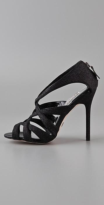 Badgley Mischka Junebug Glitter Sandals