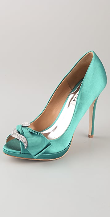Badgley Mischka Gylda Satin Pumps