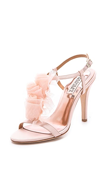 Badgley Mischka Cissy Flower Sandals