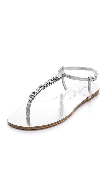 Badgley Mischka Abbie Embellished Flat Sandals