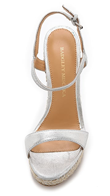 Badgley Mischka Kleo Espadrille Wedge Sandals