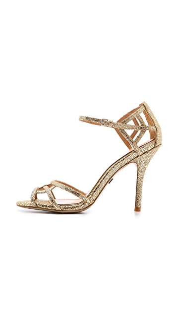 Badgley Mischka Kerrington Metallic Sandals