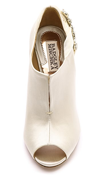 Badgley Mischka Leigha Embellished Booties