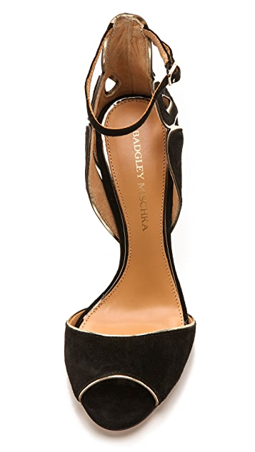 Badgley Mischka Franki Open Toe Suede Sandals
