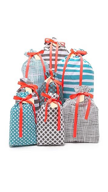 Bag-all Набор из восьми подарочных сумок Holiday