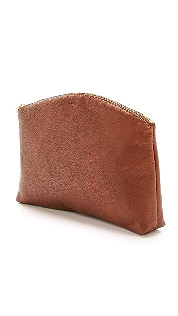 BAGGU Leather Clutch