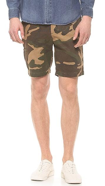Baldwin Denim Camo Ryan Shorts