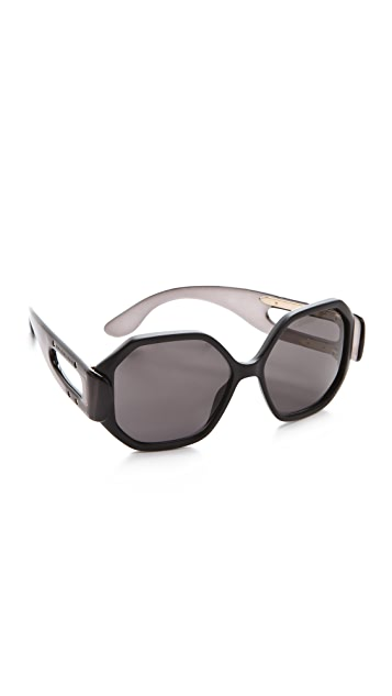 Balenciaga Oversized Geometric Sunglasses