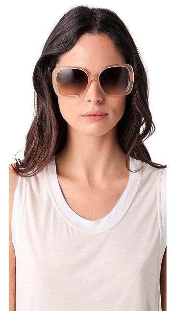 Balenciaga Twisted Temple Sunglasses