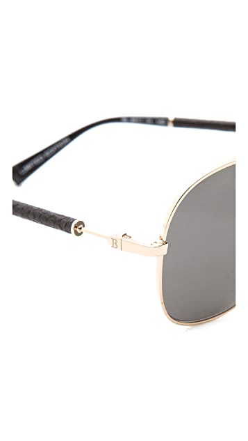Balmain Studio Aviator Sunglasses