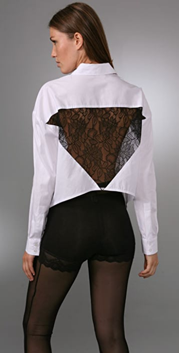 BARLOW Lace Back Shirt