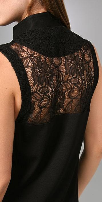 BARLOW Asymmetrical Collar Dress