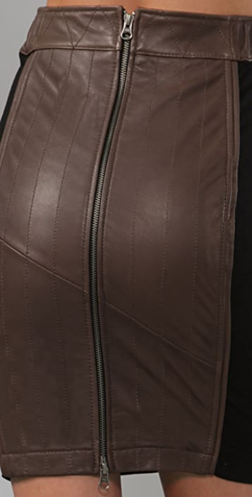 BARLOW Leather Pencil Skirt