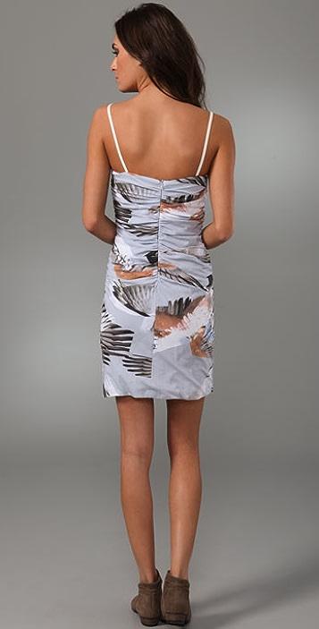 Bassike Galah Print Gathered Dress