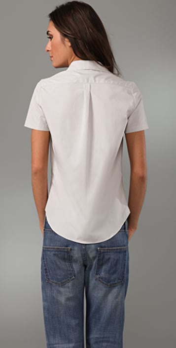 Bassike Fitted Cap Sleeve Shirt