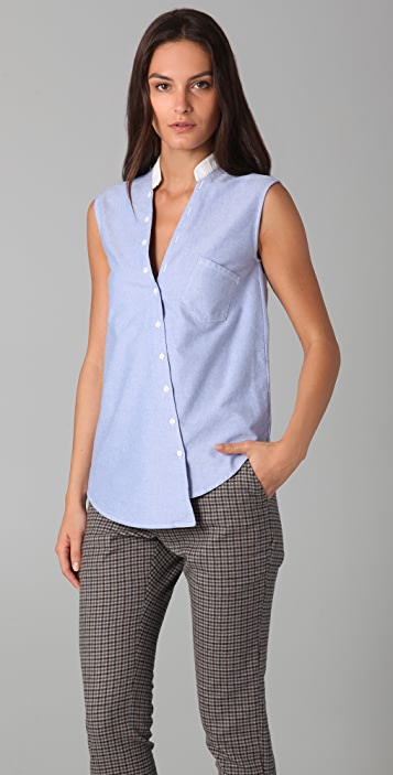 Band of Outsiders Sleeveless Button Down