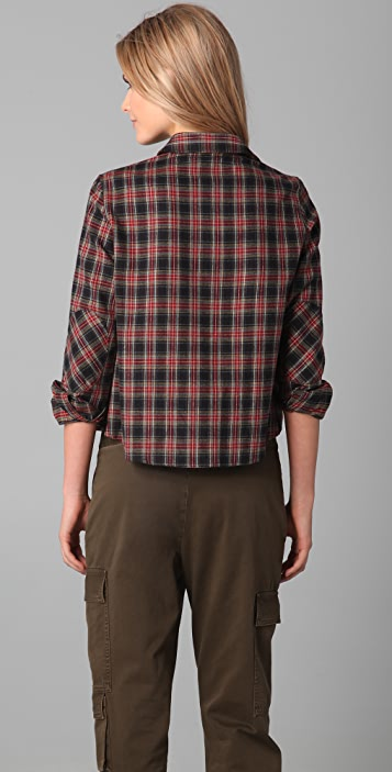 Band of Outsiders New Boxy Shirt with Elbow Patches