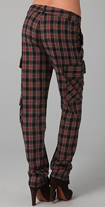 Band of Outsiders Plaid Cargo Pants