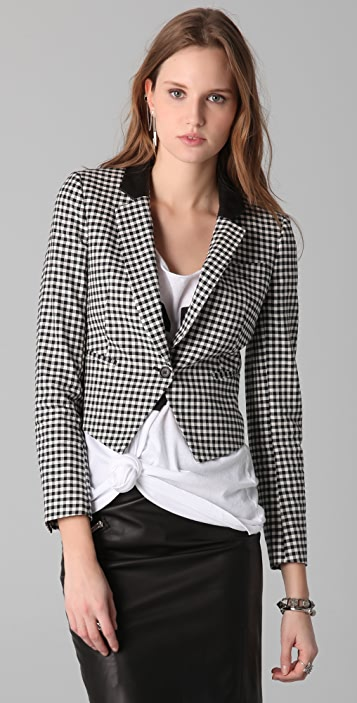 Band of Outsiders Gingham Check Jacket