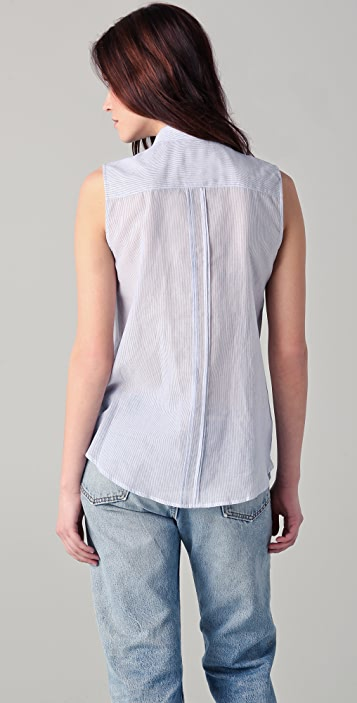 Band of Outsiders Tie Neck Sleeveless Top