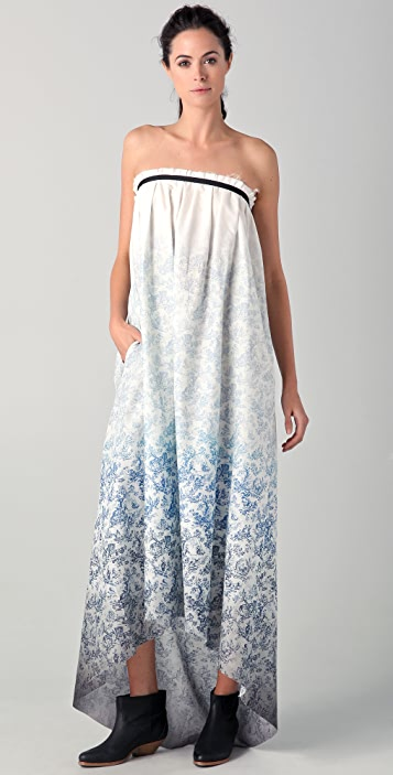 Band of Outsiders Strapless Pleated Dress