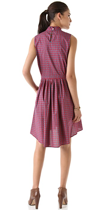 Band of Outsiders Sleeveless Dress with Ruffles