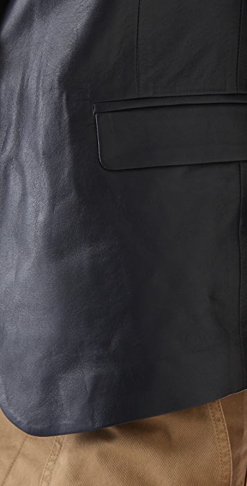 Band of Outsiders Rope Shoulder Leather Jacket