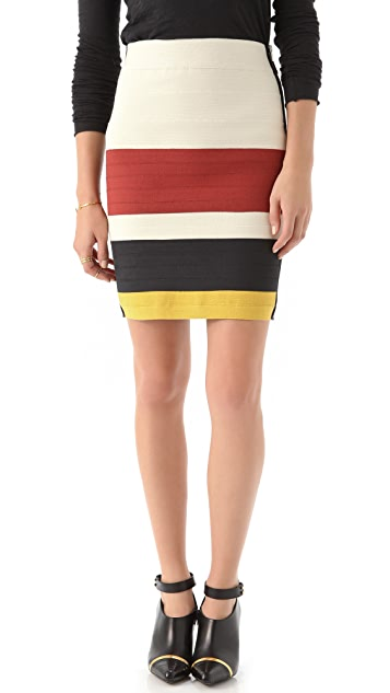 Band of Outsiders Suspender Tape Skirt