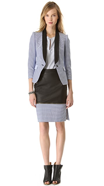 Band of Outsiders Colorblock Pencil Skirt