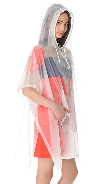 Band of Outsiders Printed Sailboat Rain Coat