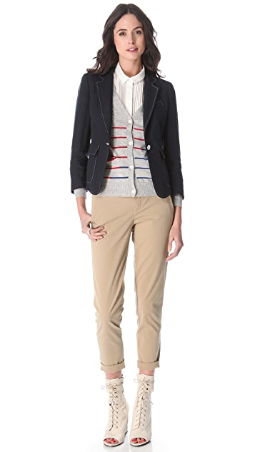 Band of Outsiders Striped Cardigan