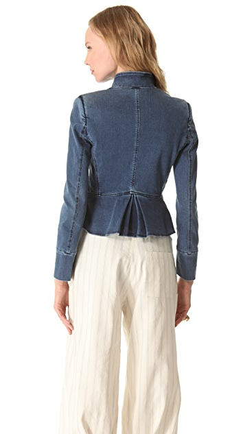 Band of Outsiders Stand Collar Peplum Jacket
