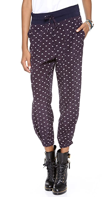 Band of Outsiders Printed Drawstring Pants