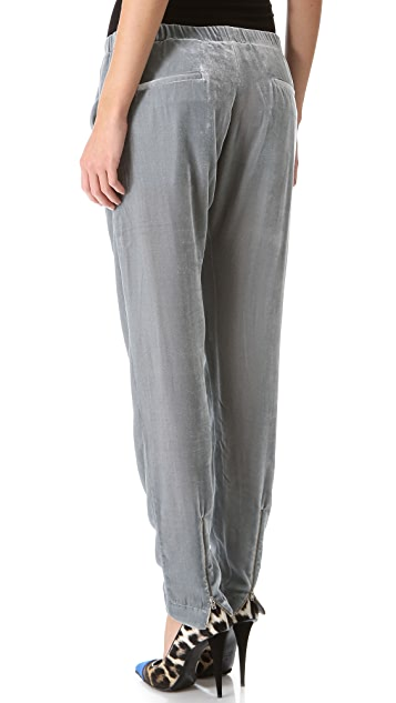 Band of Outsiders Velvet Slouchy Pants