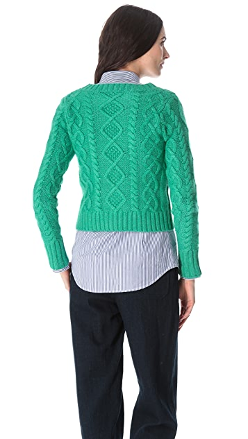 Band of Outsiders Chunky Crop Sweater