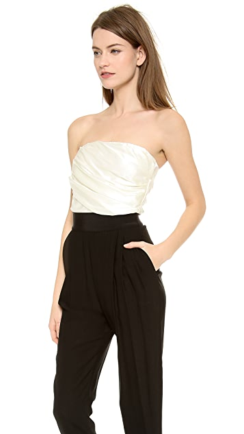 Band of Outsiders Strapless Obi Belt Jumpsuit