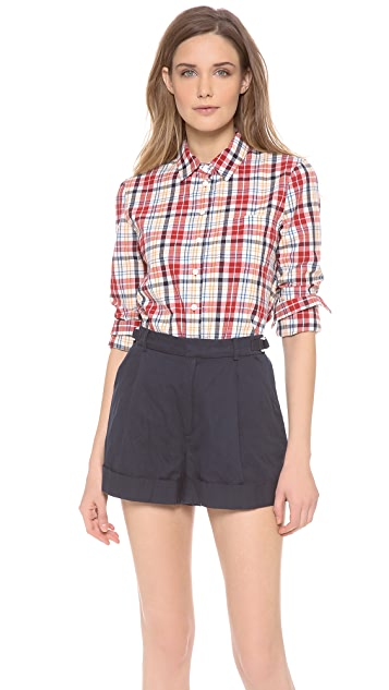 Band of Outsiders Plaid Easy Shirt