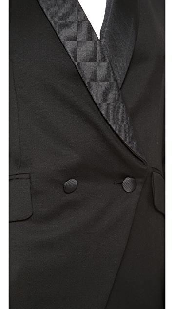 Band of Outsiders Shawl Collar Double Breated Blazer