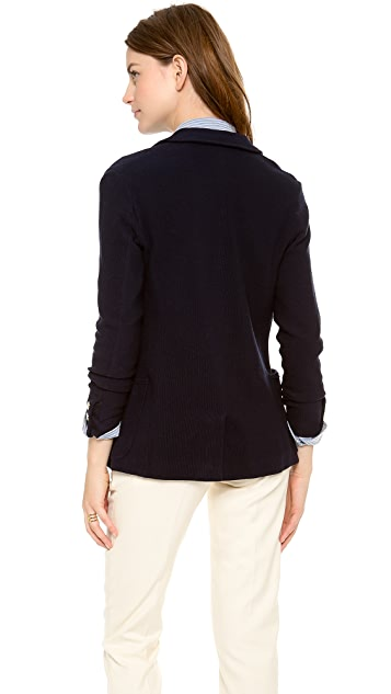 Band of Outsiders Knit Double Breasted Blazer